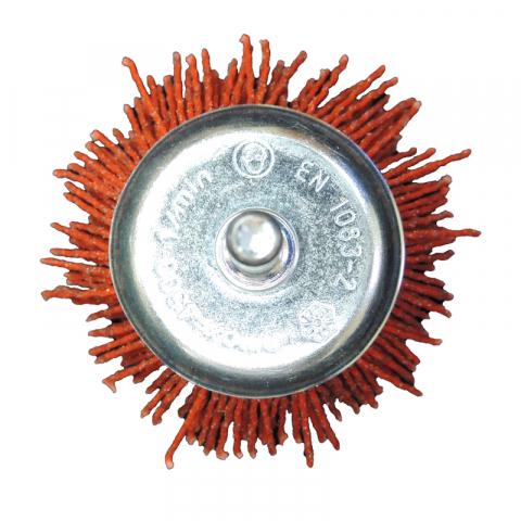 Щетка чашечная Д50 с хв-м д6, ворс красный полимер абразив P80
