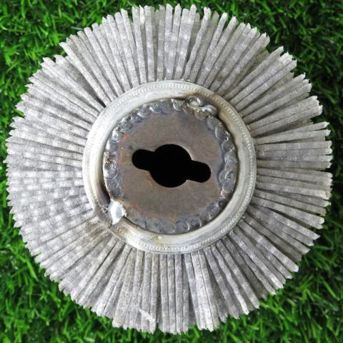 Щетка спиральная для Makita 9741, Д100*120*12,7+2 отв, ворс полимер-абразив P60
